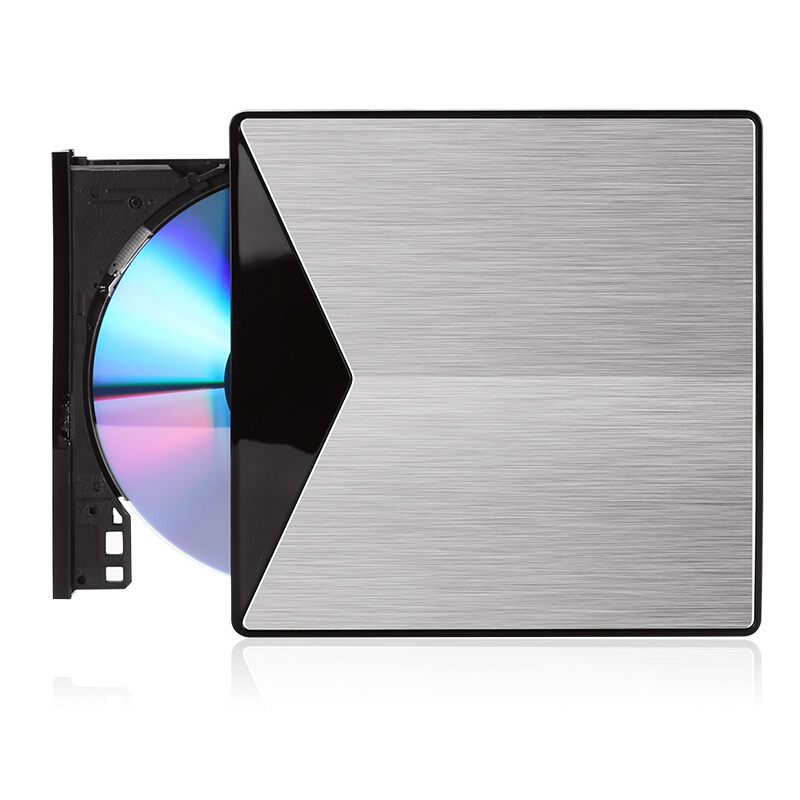 External Optical Drive USB 3.0 CD/DVD-ROM Combo Aluminum DVD RW ROM Rewriter Burner for MacBook Pro Laptop Win 7/8.1/10 Linux