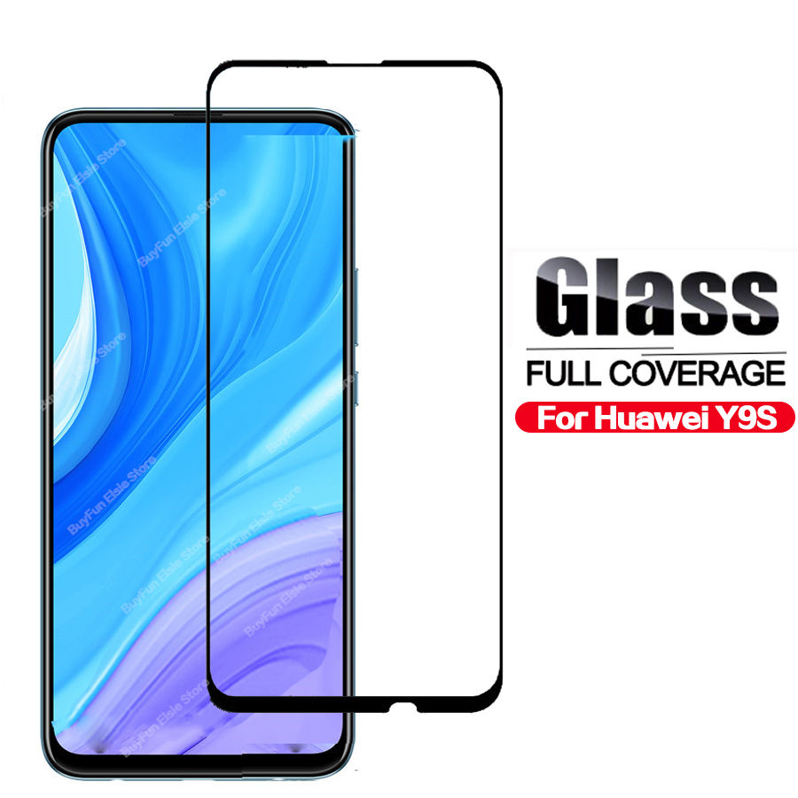 9H Tempered Glass On The For Huawei Y9s Full Cover Screen Protector For Huawey Y9 S Y 9 Prime 2019 Glas Protective Film Glass
