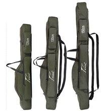 FDDL 휴대용 접는 낚시 가방로드 캐리어 캔버스 낚시 극 도구 스토리지 가방 케이스 낚시 장비 태클 120/130/ 150cm