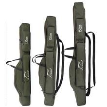 FDDL bolsas de pesca plegables portátiles, portador de caña, herramientas de caña de pescar, bolsa de almacenamiento, aparejos de equipo de pesca, 120/130/ 150cm