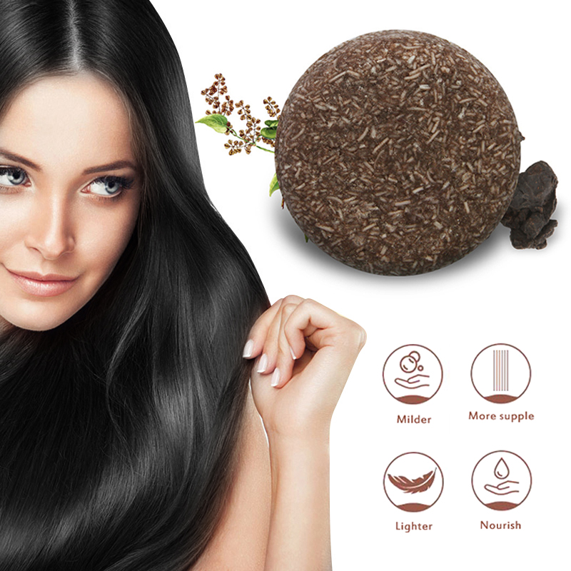 YILS Soap Hair Darkening Shampoo Bar 100% Natural Organic Conditioner and Repair black hair shampoo Polygonum multiflorum Soap