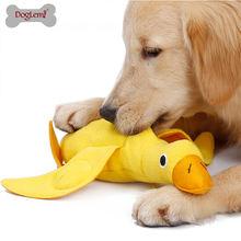 Тренировочная игрушка для собак утка дозирования еды милая плюшевая