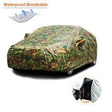 Kayme-housse de protection solaire extérieure | camouflage étanche, bâches de voiture, réflecteur de poussière, protection contre la neige, pour suv berline complète
