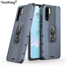 For Huawei P30 Pro Case TPU+PC Phone Finger Holder Hard Bumper Cover Funda Youthsay