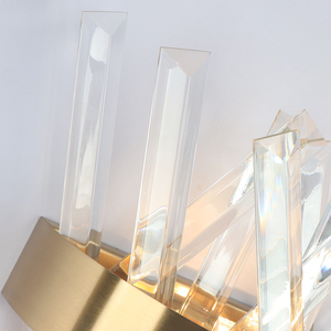 Image 5 - Crystal wall light fixture bedroom beside gold wall lamps AC 90 260V bathroom led wall sconce