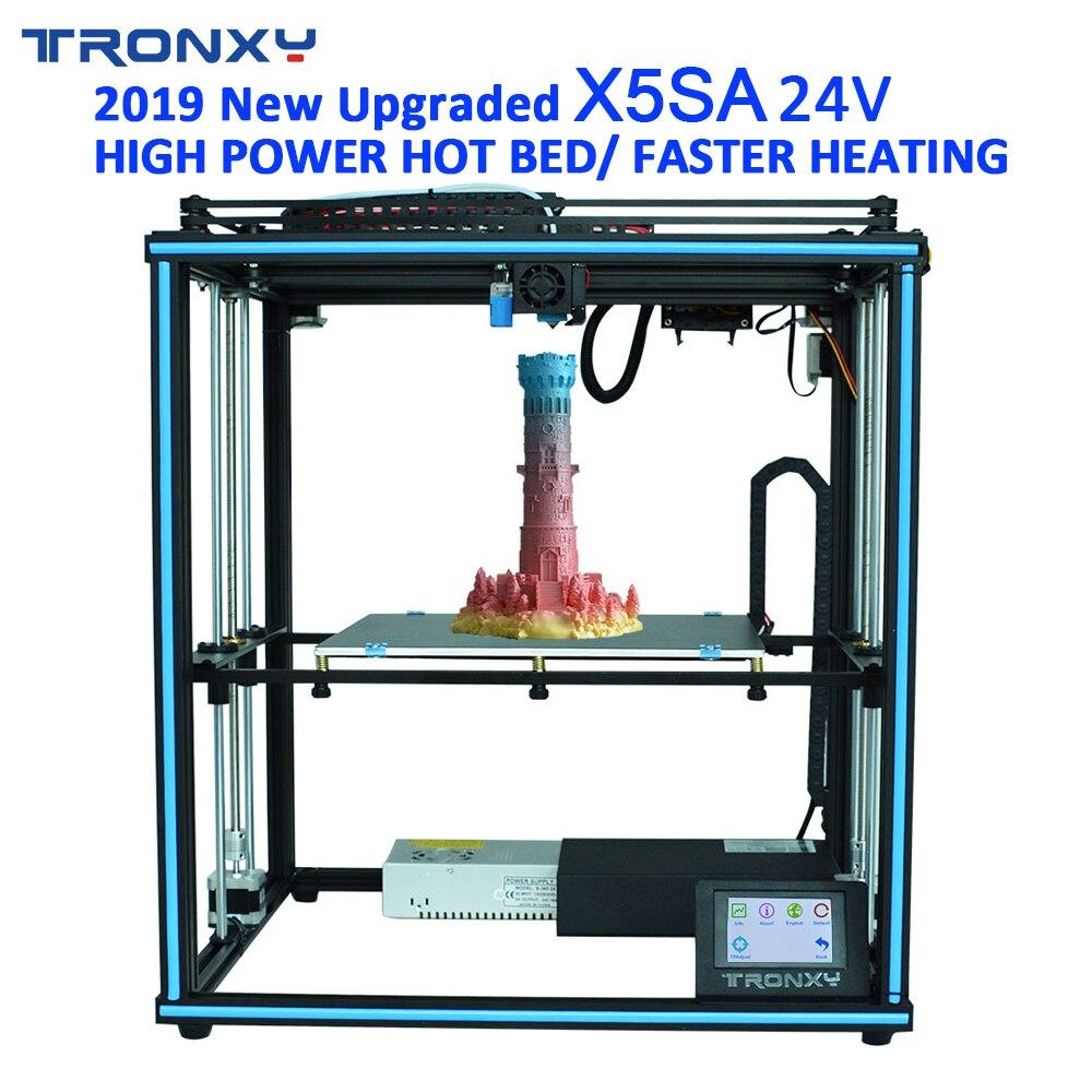 TRONXY 3D imprimante X5SA PRO/X5SA-400/X5SA 24V grande taille d'impression mise hors tension Re écran tactile niveau automatique 3d Machine PLA ABS Filament