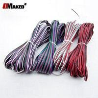 20 м 22AWG светодиодный кабель Американская классификация проводов 2р 3P 4 5 Луженая Медь Электрический провод с ПВХ изоляцией, RGB/RGBW для 5050 5730 8520 с...