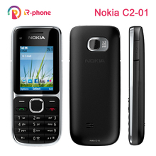 Original Nokia C2 C2 01 Unlocked Mobile Phone Refurbished Cellphones& Hebrew Russian Arabic keyboard