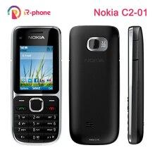 Oryginalny Nokia C2 C2 01 odblokowany telefon komórkowy odnowione telefony komórkowe i hebrajska rosyjska klawiatura arabska
