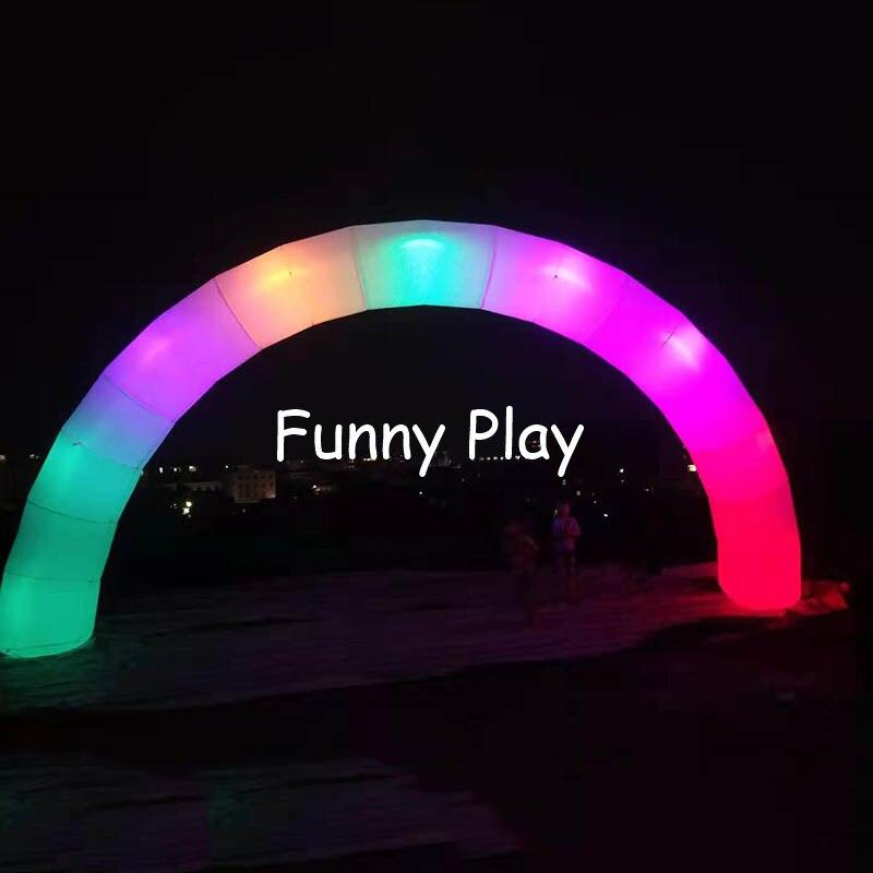 shopping abertura festival promocional night run decoração led arco inflável