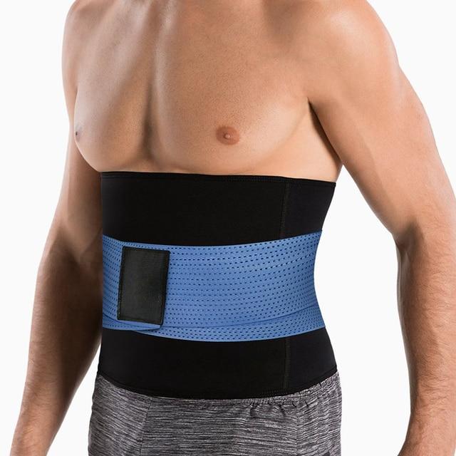 New Men's Workout Waist Trainer Abdomen Sweat Slimming Belt Weight Loss Shapewear Neoprene Body Shapers Belly Sauna Trimmer Belt 4
