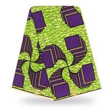 Нигерия воска печати хлопка материал Анкара Африканского печатает воск ткани настоящий гарантировано 100% хлопок Голландии