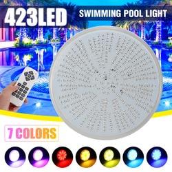 Светодиодный светильник для бассейна, 423 светодиодов, AC/DC12V RGB, сменная лампа PAR56 из смолы, водонепроницаемый, IP68, многоцветный, 2 м, проводной, ...