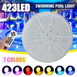 Led Schwimmbad Licht 423leds AC/DC12V RGB Harz Ersatz PAR56 Lampe Wasserdichte IP68 Multi Farbe 2m draht Unterwasser Lichter