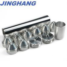 1-3/4X8 1/2-28 FUEL TRAP/SOLVENT FILTER For NAPA 4003, WIX 24003,5/8-24 223 /5.56 6061-T6 Aluminum Silver