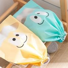 Shoes Bag Drawstring-Bag Travel-Organizer Waterproof Cute Cartoon Dustproof-Cover Laundry