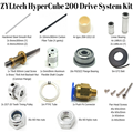 1 комплект HyperCube CoreXY + Z Bowden-style комплект приводной системы свинцовый винт углеродная трубка детали 200/300 мм Кубический Объем сборки