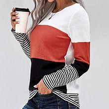 Nadruk w paski kobiety z kapturem z długimi rękawami O-neck Ladias ubrania jesień zima Kawaii szwy sweter topy Dropshipping