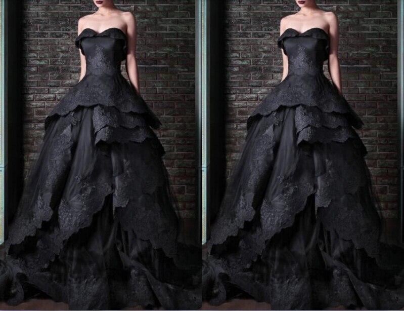 Custom Sweetheart Appliques Vestido De Festa 2018 Sexy Ball Bridal Gown Black Long Free Shipping Mother Of The Bride Dresses