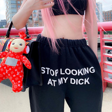 Summer Letters Printed Dark Casual Women's Shorts High-waist Lace-up Fashion Five-point Short Korea Style 2020 New Woman Cloth