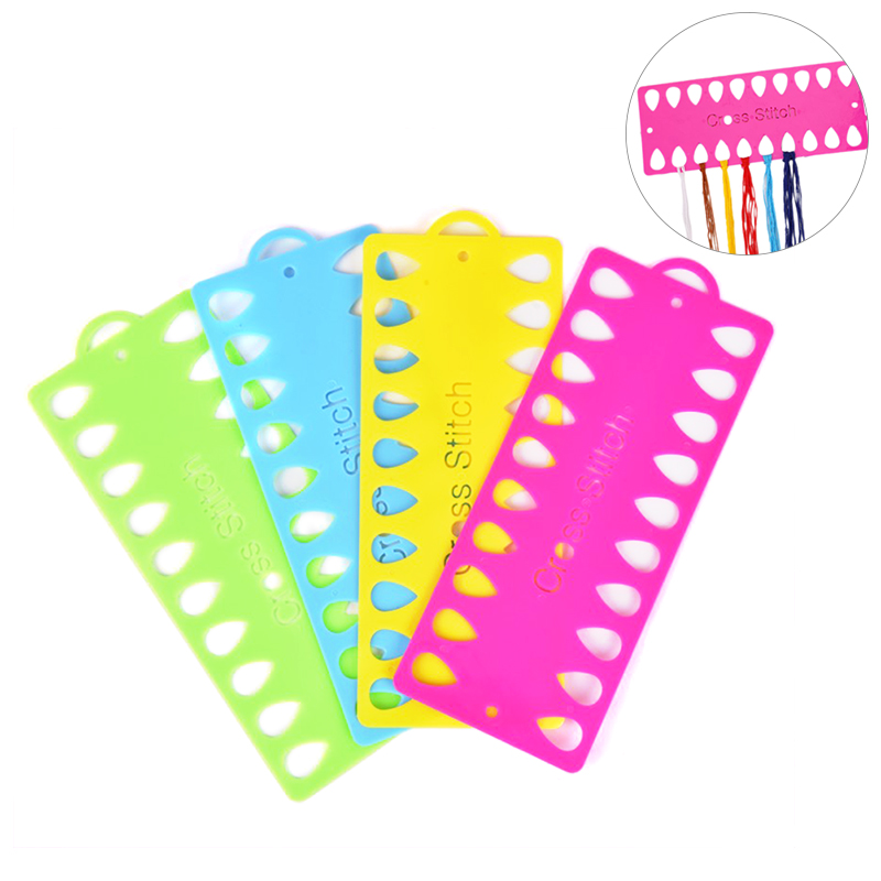 Plastic Cross Stitch Row Line Tool 20 Positions Thread Board Thread & Yarn Organizer Embroidery Accessory-0
