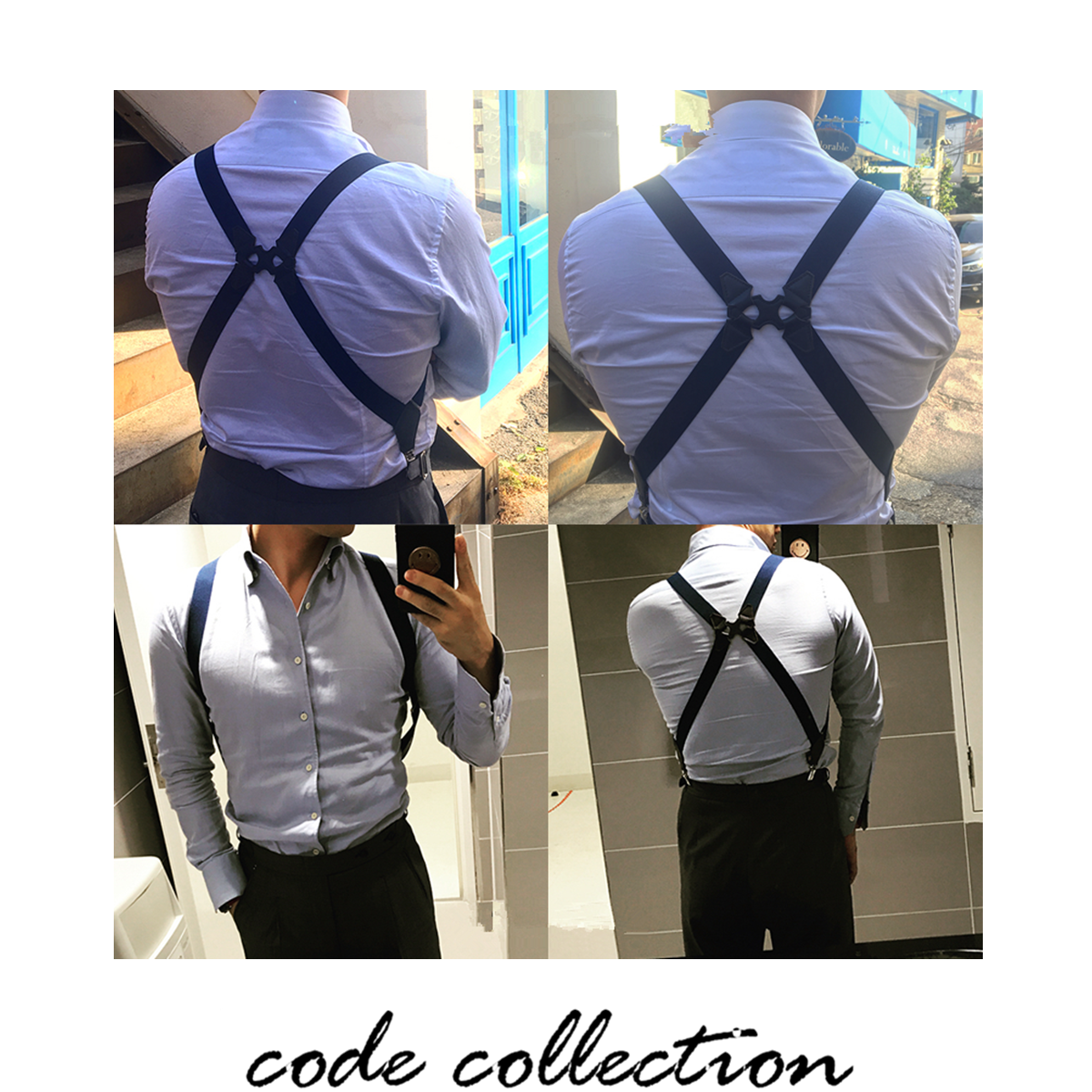 Vintage Men Holster Style Suspender Belt Side Clips British Style Duckbill Clip Shirt Stay Solid Color Clothes Accessories Gift