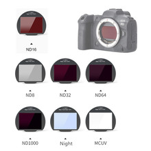 Clip in CMOS Protector MC UV ND8 ND16 ND32 ND64 ND1000 Night Neutral Density Filter for Canon EOS R R5 R6 RP Camera Clip in