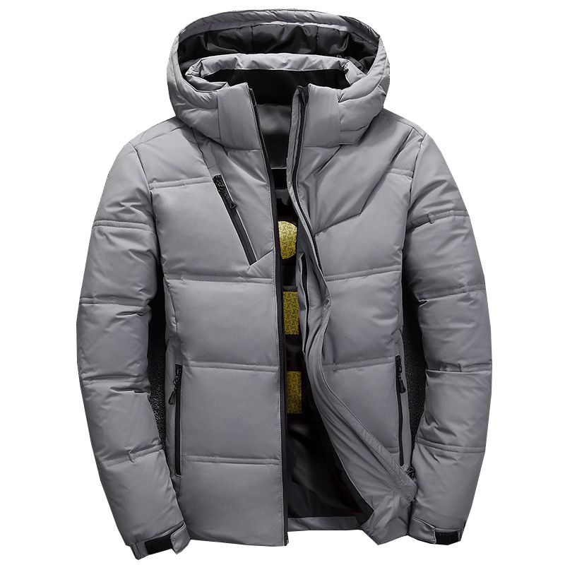 Winter Hooded Duck Down Jackets Mens short Warm Thick Quality Down Coats Male Winter Overcoat Down Jacket Man title=