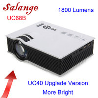 Salange UC68 LED Projector 1800 lumens Home Theater Beamer Cheap Proyector Support HDMI AV VGA Full HD 1080P UC40 Upgrade