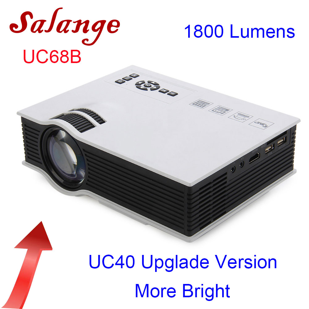 Salange UC68 projecteur LED 1800 lumens Home cinéma Beamer pas cher Proyector Support HDMI AV VGA Full HD 1080P UC40 mise à niveau