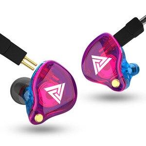 Image 2 - QKZ VK4 אוזניות 3.5mm Wired אוזניות ספורט HIFI בס רעש בטל באוזן אוזניות להסרה כבל אוזניות