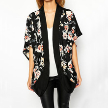 Cheapest Flower Kimono Women Fashion Japanese Style Beach Cover Up Cardigan Blouse Discount Batwing Sleeve Womens Kimonos