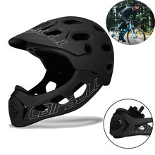 цена на Mountain Cycling Helmet Adult Men Full Face Bicycle Helmet MTB Bike Protection Helmet Extreme Sports Safety Helmet M/L (56-62CM)