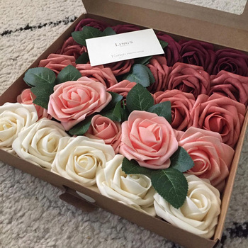 10 20 30 głowy 8CM sztuczna pianka PE Rose kwiaty bukiet panny młodej kwiat na ślub Party dekoracyjne Scrapbooking kwiaty do składania tanie i dobre opinie CYZQ CN (pochodzenie) 8cm rose Sztuczne kwiaty Różany Bukiet kwiatów Na imprezę