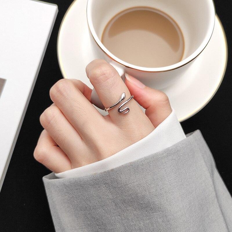 Charm Snake Finger Ring For Women Men Vintage Boho Knuckle Party Rings Punk Jewelry Girls Gift 4