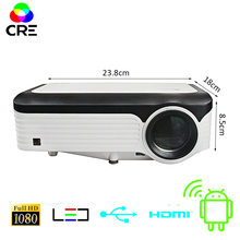 CRE 3200 люмен видео проектор Full HD 1920*1080 4K Поддержка Android проектор с Wi-Fi Bluetooth Android 7,1 OS светодиодный проектор