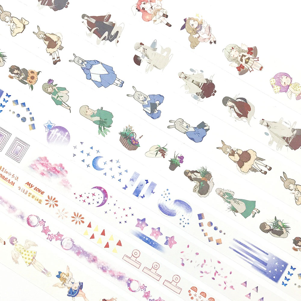 26 Designs Washi Masking Tape  Special Ink Fashion Girls Japanese Adhesive DIY Planner Paper Label Stickers Diary Gift