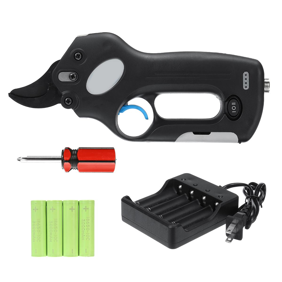 12V Wireless Electric Rechargeable Garden Scissors for Pruning Branches and stems with 4 Li-ion Battery 11