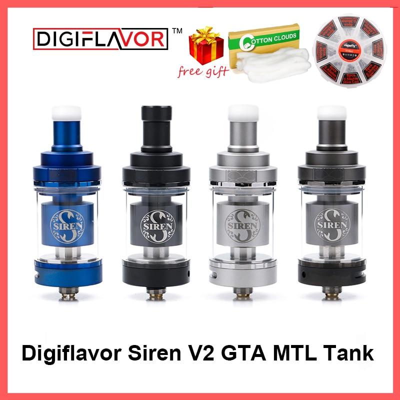 Digiflavor Sirene V2 GTA MTL Tank 24 Version 4.5ml Genisis Tank Zerstäuben 24mm update sirene 25 DF sirene 2 zerstäuber