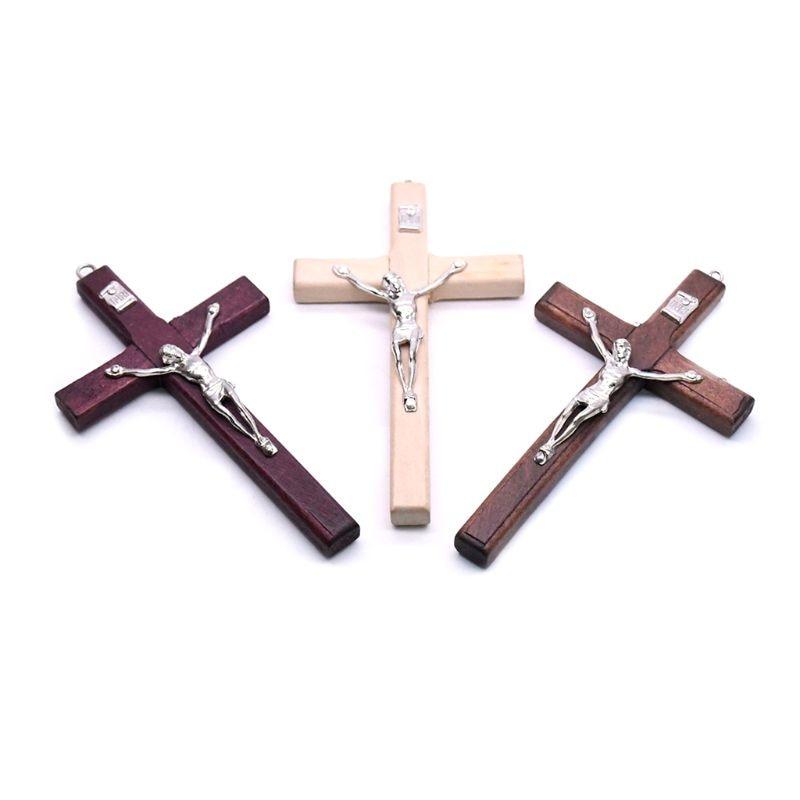 5 шт., Деревянные Подвески с крестом Иисуса Христа|Настенные кресты| | АлиЭкспресс