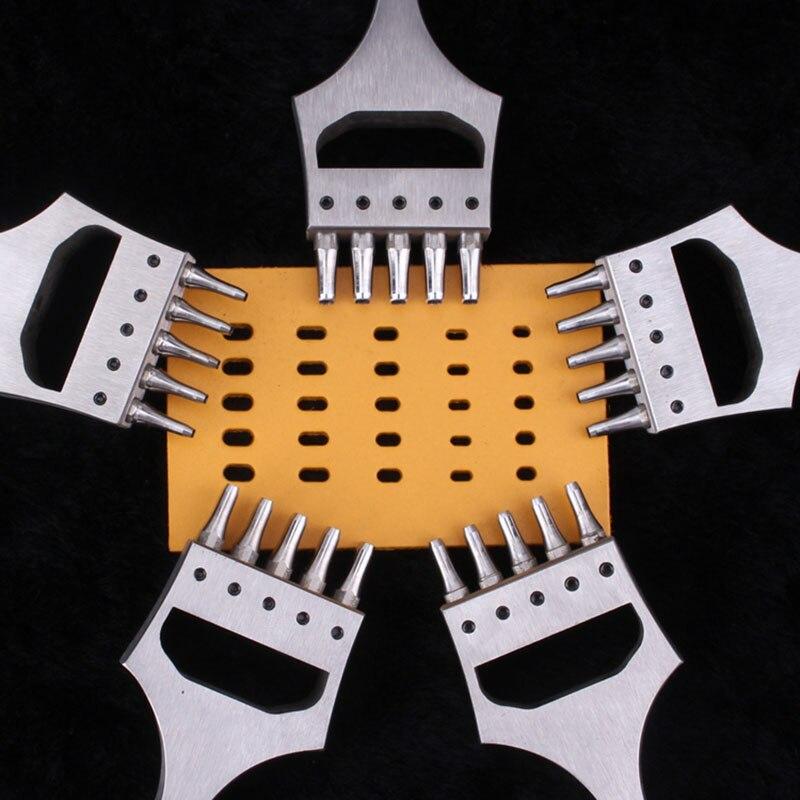 Ремесленные часы для кожи, ремешок, ремешок, Овальный дырокол, инструменты для шитья, 5 Зубцов, резак, головка, съемное долото, инструменты/на...
