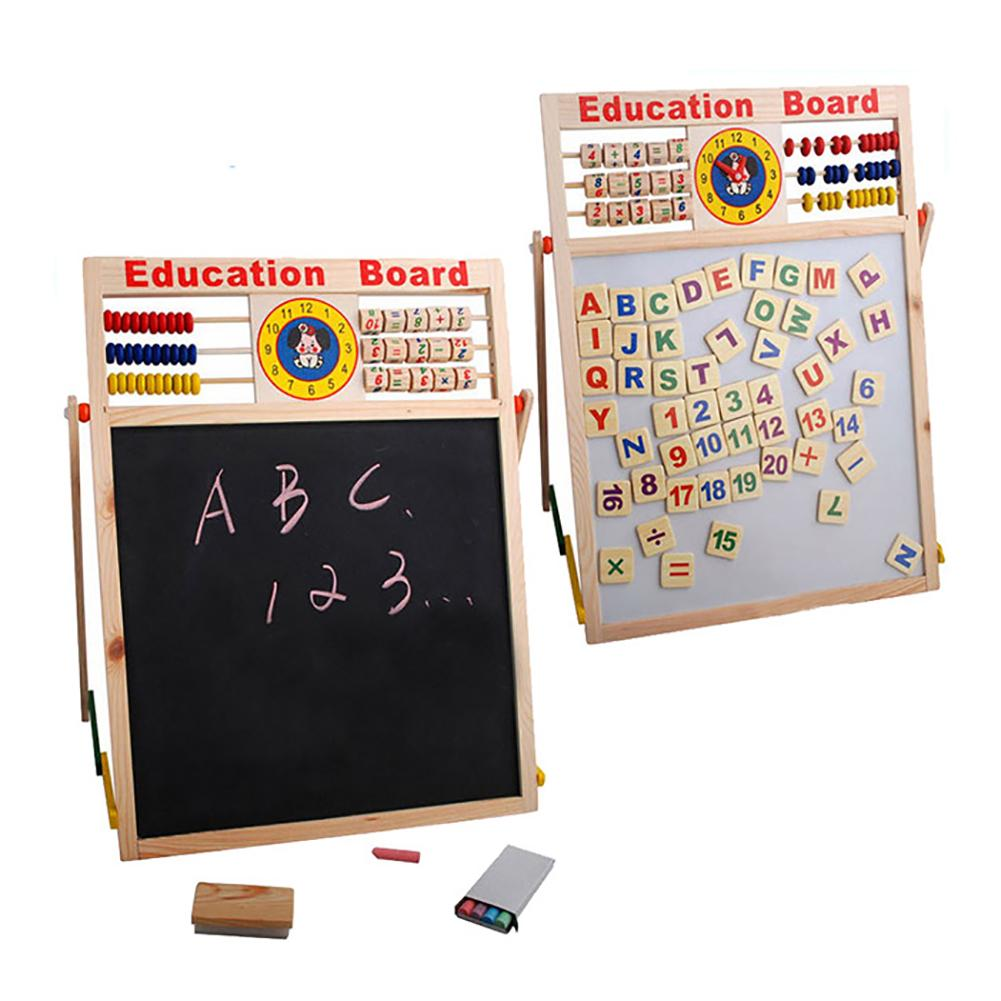 Abacus Wooden Letters Numbers Blackboard Magnetic Board Kids Educational Toys Calculating Writing Toy