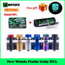 Original New Wotofo Profile Unity RTA Tank 25mm Vape Atomizer e-cigarette vapor tank 510 thread fit mesh coil squonk pin RDA(China)