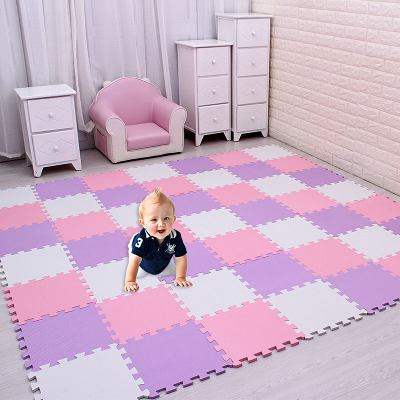 10Pcs/Lot Kids Toys EVA Children's Mat Foam Carpets Soft Floor Mat Puzzle Baby Play Mat Floor Developing Crawling Rugs 30*30*1CM