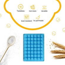 Синий 48 полости слотов Английский алфавит силиконовые формы для изготовления домашнего шоколада чашки конфеты клейкий желе
