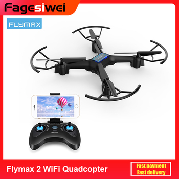 цена Flymax 2 RC Drones WiFi Quadcopter 2.4G FPV Streaming Drone 6-axis Gyro 4 Bright LED Lights 4 Channels Aircraft Drone онлайн в 2017 году