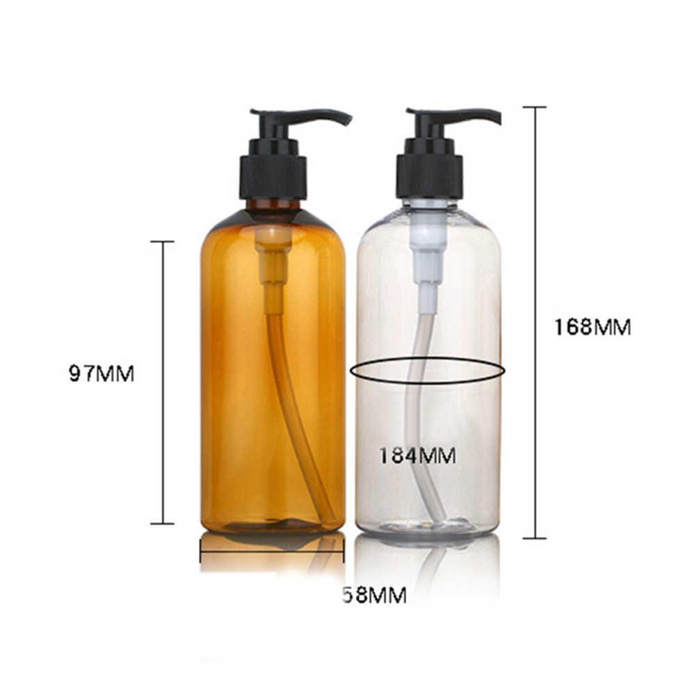 Büyük kapasiteli 100/200/300ml Amber cam şampuan boş losyon kabı köpük preslenmiş pompa şişesi sabun duş jeli