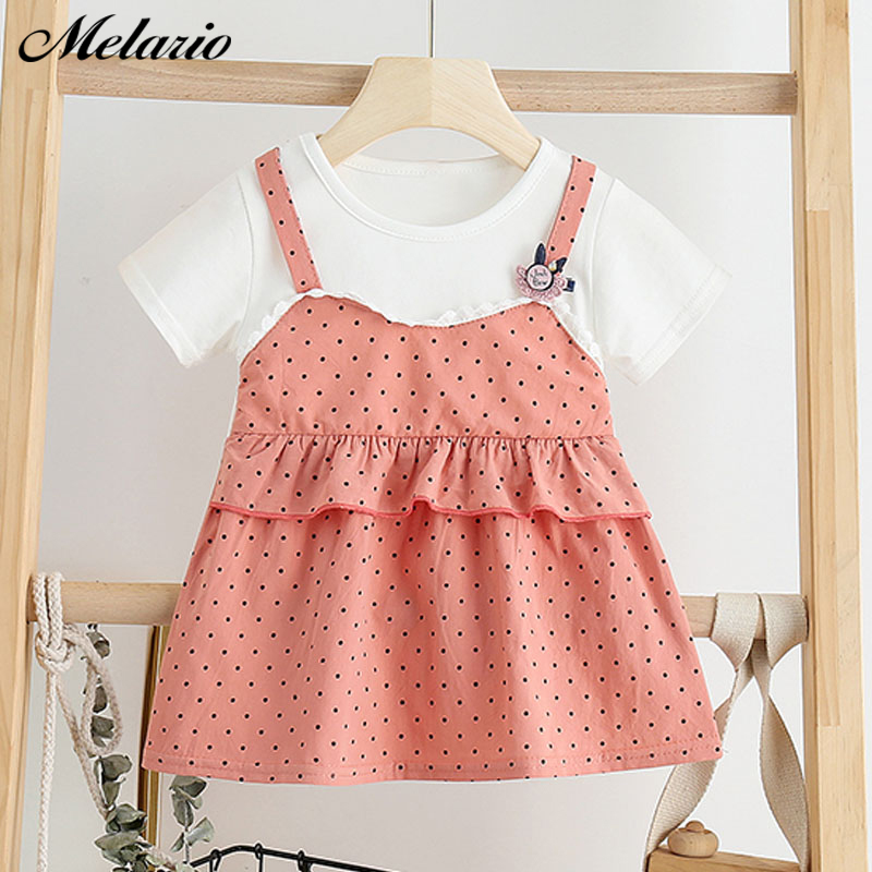 Melario Baby Girls Dress Summer Cute Toddle Baby Dress Plaid Baby Girl Princess Dresses Vestidos Children Clothing Suit