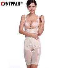 ONYPPAH kadın Slimmining vücut şekillendirme korseler şekillendirme Bodysuit spor bel kontrol iç çamaşırı sıkıştırma mıknatıs vücut şekillendirici