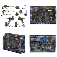 3-12cm 14pcs/set NECA Original ALIENS Uscm Arsenal Accessory Set Action Figure Toy Birthday Gift